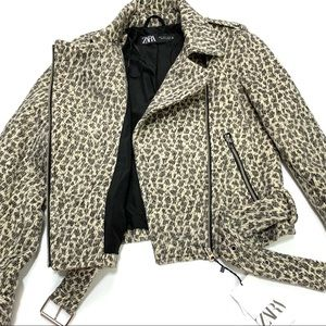 Zara Bikers Jacket - Animal Print